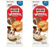 New listing Milk Bone Wonder Bones Paw Rockers Chicken Small Med 2 Count Treats 2 Packs