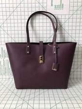 Michael Kors Karson Large Carryall Pebbled Leather Tote Bag Damson Purple