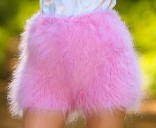 Pink hand knitted mohair shorts underwear fuzzy pants soft SUPERTANYA ON SALE