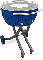Lotusgrill XXL il barbecue senza fumo versione con ruote colore BLU  cm.60