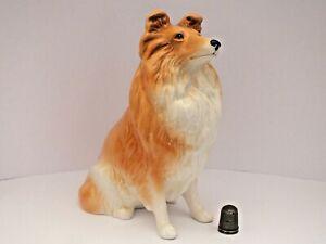 Large Vintage SylvaC Pottery Rough Collie /Lassie Dog Figurine Model #5023