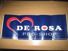 NOS De Rosa Pro Shop Sticker 34x14 cm ORIGINAL Vintage Italian Cycling Bike Road