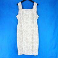 Va Bene Damen Sommer Kleid Gr 46 3XL Weiß Beige Shirtkleid Muster Np 139 Neu