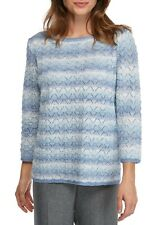 ALFRED DUNNER® M, XL Silver Belles Stripe Embellished Sweater NWT $66