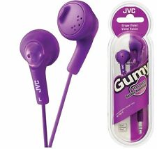 NEW JVC F160 Gumy Bass Boost In-Ear Stereo Gummy Earbud Headphones Grape Violet