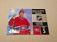 2015-16 Upper Deck Full Force Hockey Draft Board #DB-CP Carey Price Canadiens