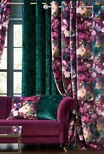 "Next Floral Abstract Floral Eyelet Curtains 89""X 90""/228cmx229cm - Brand new"
