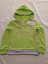 Girls Youth Under Armour Allseason Hooded Logo Sweat Shirt Lime XS NWT