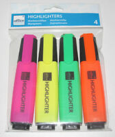 Lot Set x4 Marqueurs Fluo Fourniture Scolaire Bureautique Highlighter