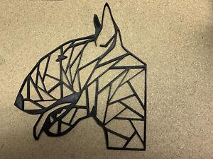 Geometric English Bull Terrier Dog Head Animal Wall Art Decor 300 X 250mm