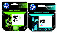 GENUINE NEW HP 901XL 901  (CC654AN/CC656AN) Black Color Ink Cartridge 2-Pack