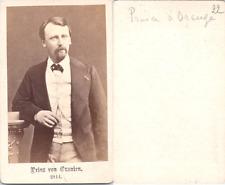 Vervee, La Haye, Prince Alexandre des Pays-Bas Vintage CDV albumen carte de visi