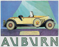 POSTER AUBURN AUTOMOBILE AMERICAN CAR INDIANA USA VINTAGE REPRO FREE S/H