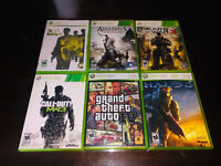6 XBOX 360 GAME: THE GODFATHER 2, AC 3, GEARS OF WARS 3, COD NW3, GTA 4 & HALO 3