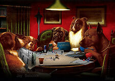 Dogs Playing D&D (Call of Cthulhu version) full color poster, autographed