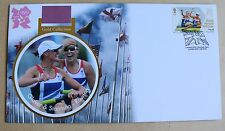 OLYMPIC GOLD MEDAL WINNERS GLOVER & STANNING WOMEN'S ROWING 2012 BUCKINGHAM FDC