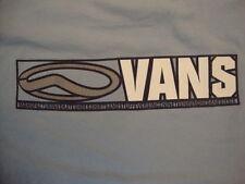 Vans Ever Since 1966 Apparel Logo Light Blue Cotton T Shirt Size L