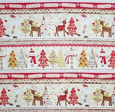 Stoffrest Holiday Stitches Bordüre Patchworkstoffe Stoffe Weihnachten Patchwork
