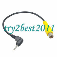 Car Backup camera RCA 3.5mm to 2.5mm GPS AV-in Converter Cable GPS AV IN Adapter