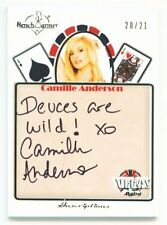 "CAMILLE ANDERSON ""DEUCES ARE WILD INSCRIPTION /21"" BENCHWARMER VEGAS BABY 2013"