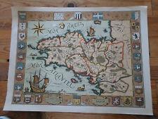 carte géographique - Daniel Derveaux -carte illustrée de la BRETAGNE