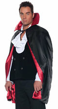 "44"" SATIN BLACK RED CAPE DRACULA VAMPIRE REVERSIBLE CAPE ADULT COSTUME 29242"