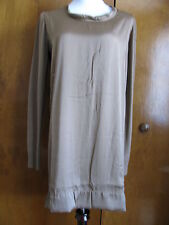 Twin Set by Simona Barbieri Women's Tan Sweater Dress Made in Italy Sz Small NWT