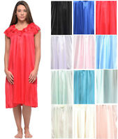 Casual Nights Women's Cap Sleeve Rose Satin Nightgown