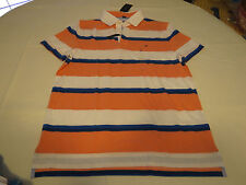 Tommy Hilfiger 1649 Mens Linen Blend Custom Fit Striped Polo Shirt BHFO XL