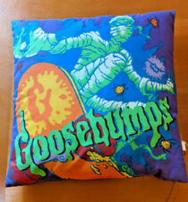 Vintage 90s Goosebumps Throw Pillow RL Stine 13x13 Double Sided Mummy Horror