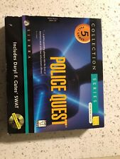 Sierra POLICE QUEST COLLECTION SERIES (PC, 1997) EX COMPLETE 5 Games 90s Big Box