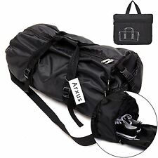 Arxus Foldable Waterproof Duffle Sports Gym Travel Luggage Bag with Shoes for &