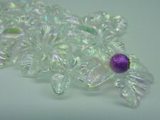 30 pcs Luminous Acrylic Flower Beads AB Colour 23mm Bridal Bouquets Craft