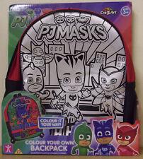 PJ Masks ~ Colour Your Own Backpack ~ Inc 5 Markers Bag Colour Varys
