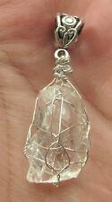 Large Brazilian Phenacite Phenikite Crystal Pendant #20 Sterling Silver