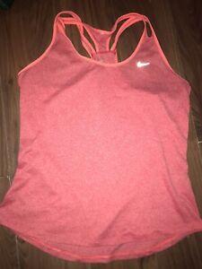 Nike Women Dri-Fit Racer Back Vest Size Large Peach Colour Great Condition