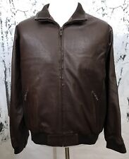 Rossi & Caruso Argentina Designer Leather Bomber Aviation Jacket Very Rare L