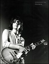 Jeff Beck circa 1970 with Gibson Les Paul guitar classic b/w pin-up photo