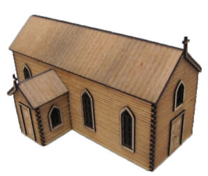 """Trackside Models - HO Scale - Laser Cut """"The Country Church"""" - SM1044"""