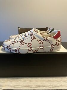 Gucci Ace White GG Ghost Size 8.5G 9.5US