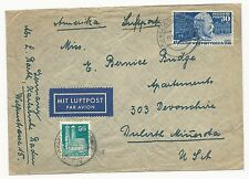 Germany Scott #669 & #653 on Cover Air Mail Oct 13, 1949