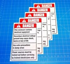 Safety Signage Danger Enclosure Contains Electrical Equip Sign 3.25X5.25 Qty: 5