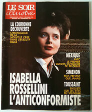 Le Soir illustré du 01/11/1990 Isabella Rossellini anticonformiste/ Simenon