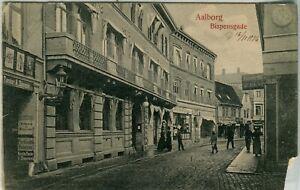Denmark Aalborg Ålborg - Bispensgade 1906 cover on uncommon view postcard