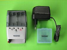 TRONIC Akuu-Ladegerät Schnelladegerät für 2/4 AA AAA Akkus +Lade-Akkubox