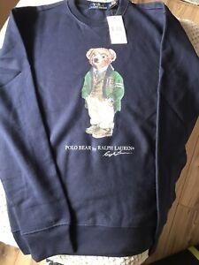 Polo Ralph Lauren Sweatshirt Bear Logo NAVY RP £155 Size (Medium).