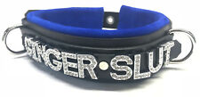 Leather collar- custom -any word/name/color -personalized- cuff