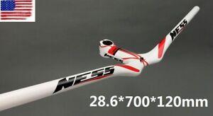NESS Carbon Road Bike MTB Bicycle Riser Handlebar Integrated Bar Stem 700*120mm