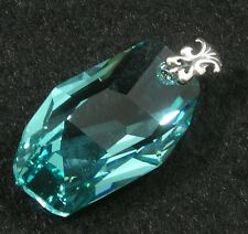Avilagems Swarovski Crystal Turquoise Blue .925 Sterling Silver Meteor Pendant