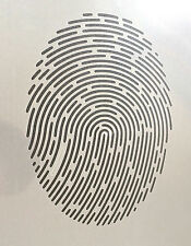 Finger Print ID A4 Mylar Reusable Stencil Airbrush Painting Art Craft